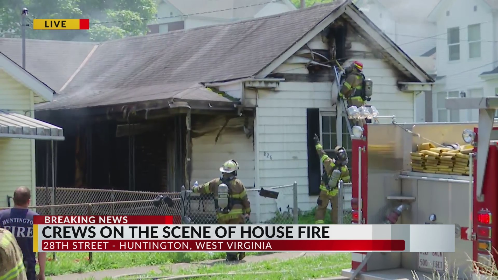 Fire destroys one home, damages another
