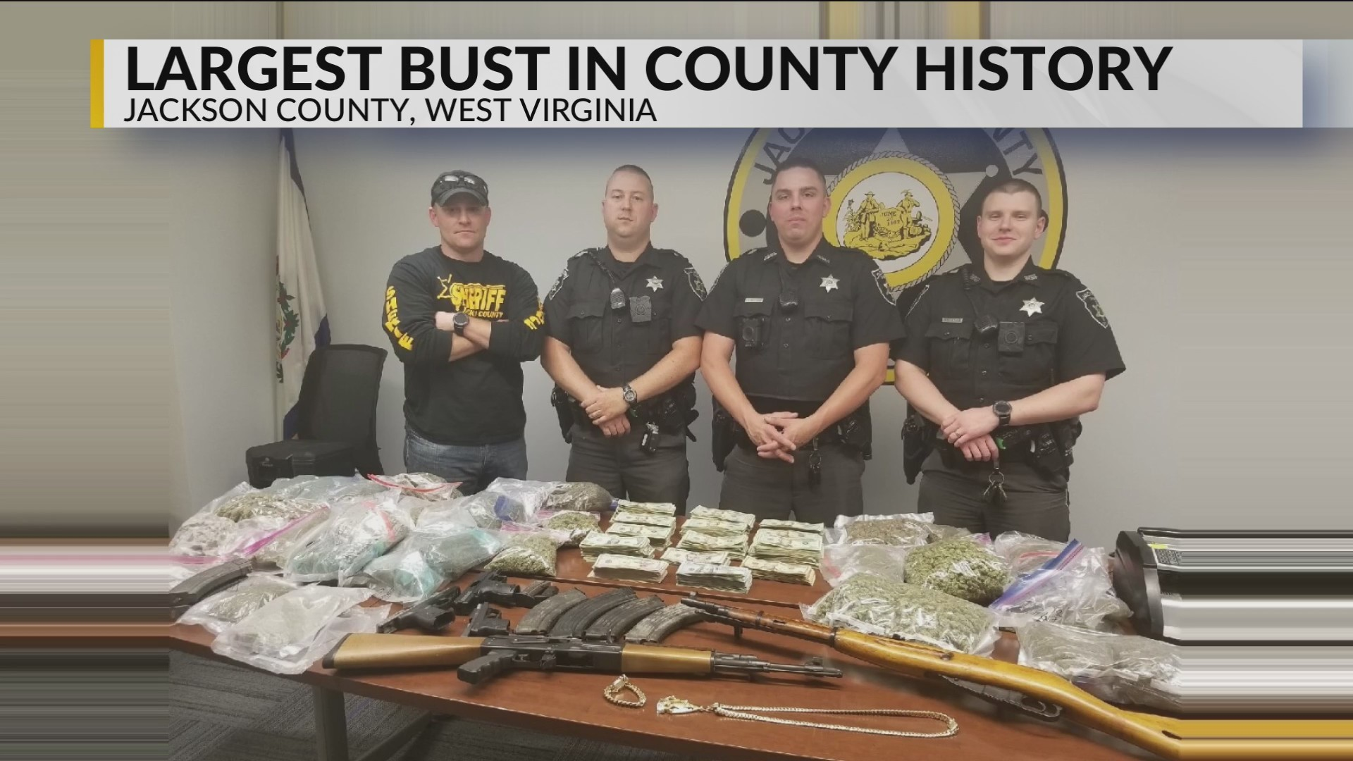 Jackson County Deputies Make Largest Cash Drug Seizure in County History