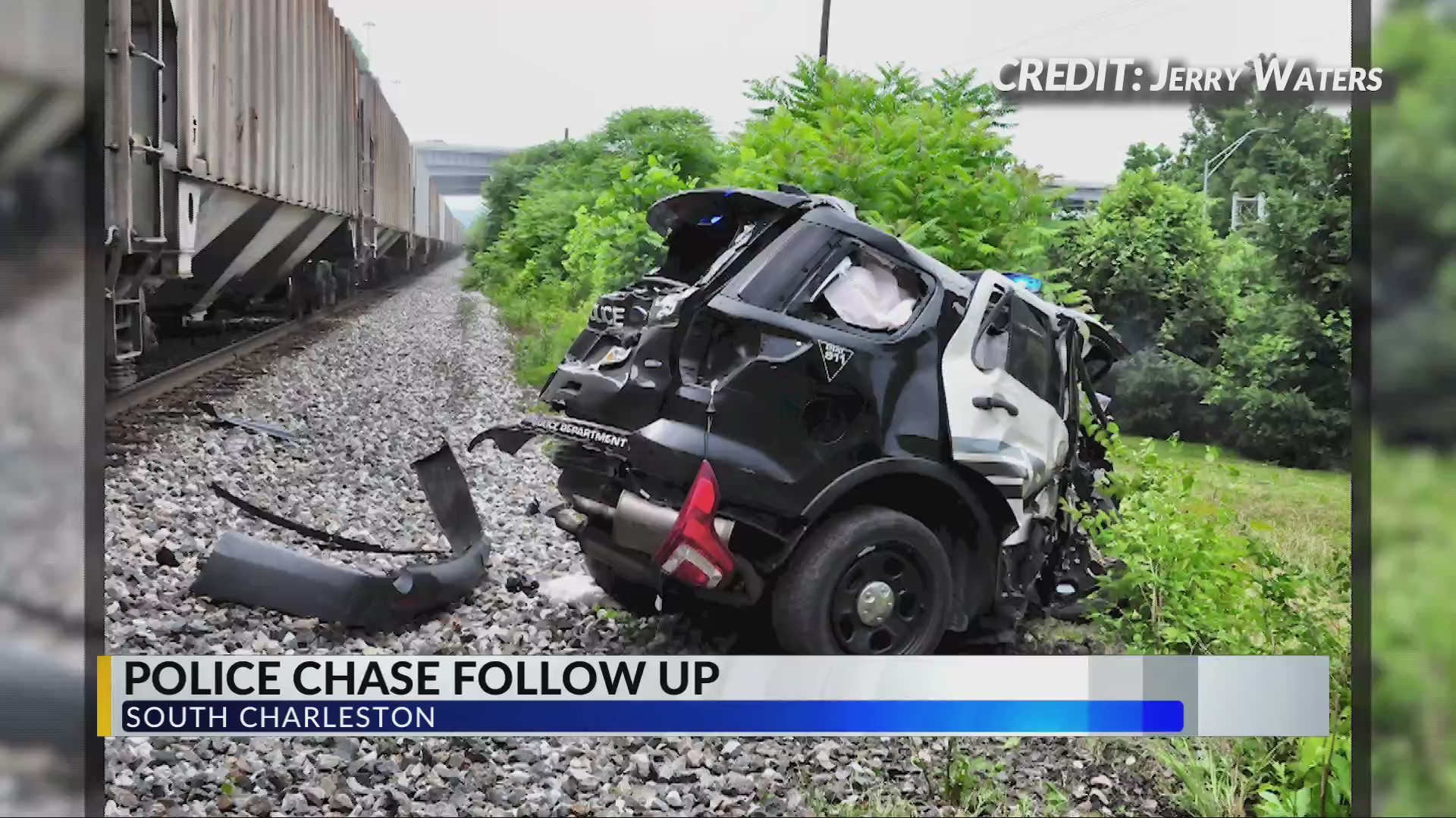 Police Cruiser Destroyed by Train During Chase