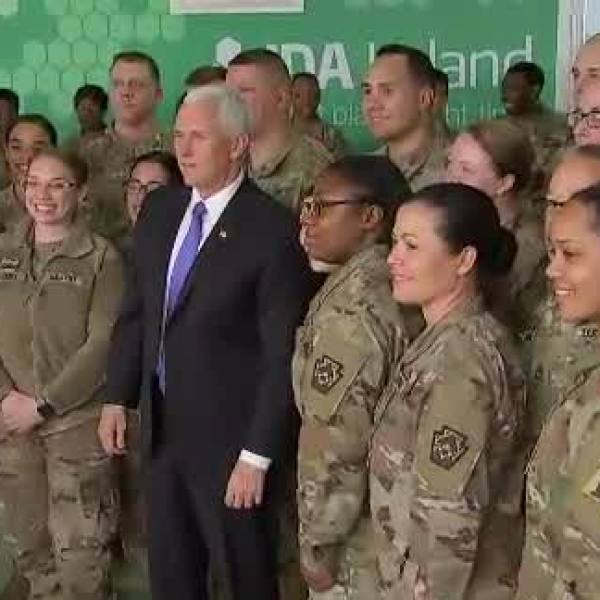 pence and troops
