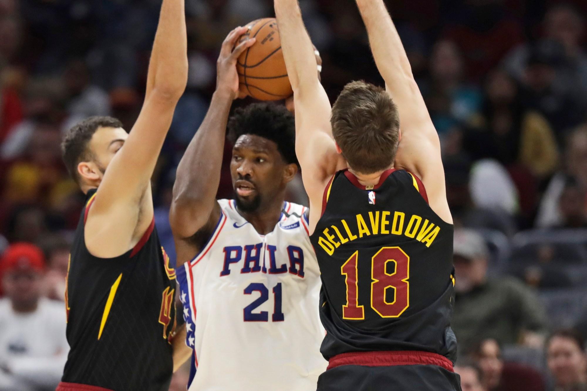 Matthew Dellavedova, Ante Zizic, Joel Embiid