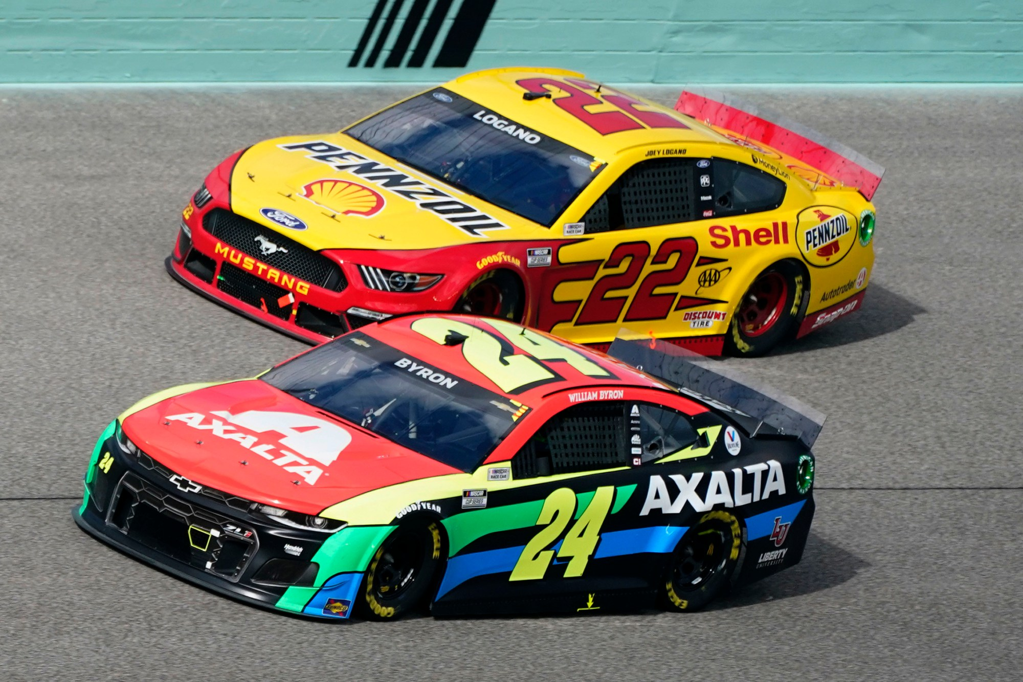 Joey Logano, William Byron, Noah Gragson
