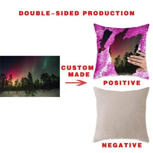 customized magic sequin pillow cover