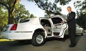 CT White Stretch Passenger Limousine image