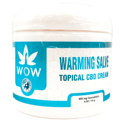 warming salve front label