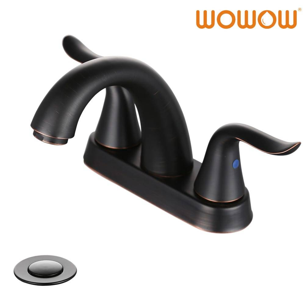 wowow bathroom sink faucet 4 inch center oil rubbed bronze