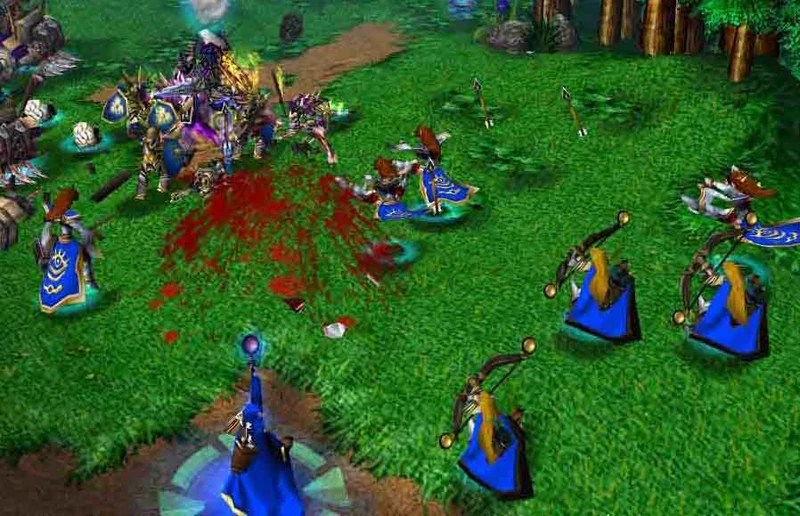 A shot from the Scourge campaign of Warcraft III: Reign of Chaos