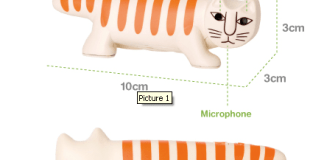 Necono Cat-Shaped Digital Camera