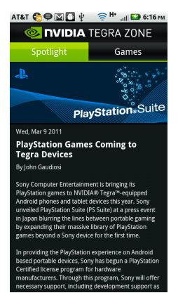 Sony Playstation Games Coming To Tegra Devices