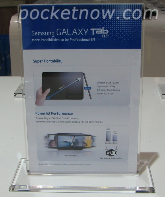 Information About Galaxy 8.9