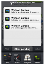 Notification Bar iPhone / iOS Device