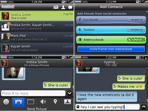 PingChat BlackBerry App