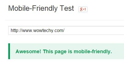 Mobile Friendly Test Google