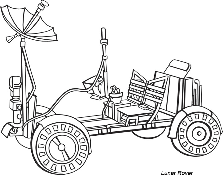 Rover Easy Mars Drawing
