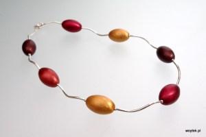 Srebrny naszyjnik Jajka z kolorową elektroforezą