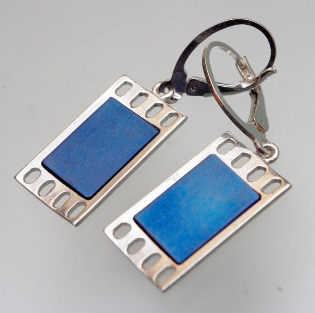 Kolczyki srebrne z tytanem Kadr