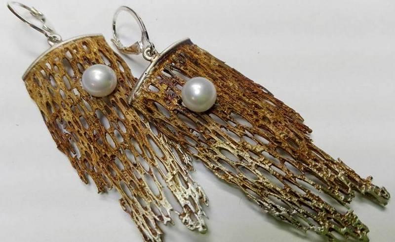 Srebrne kolczyki Kolce z perłą