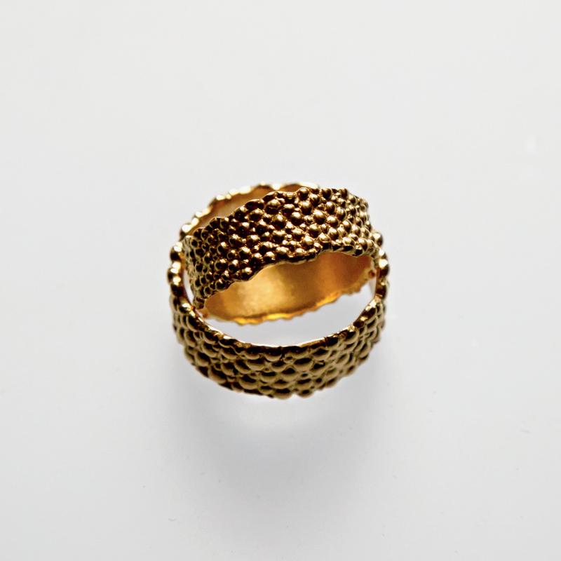 Złote lub srebrne obrączki Płaszczka