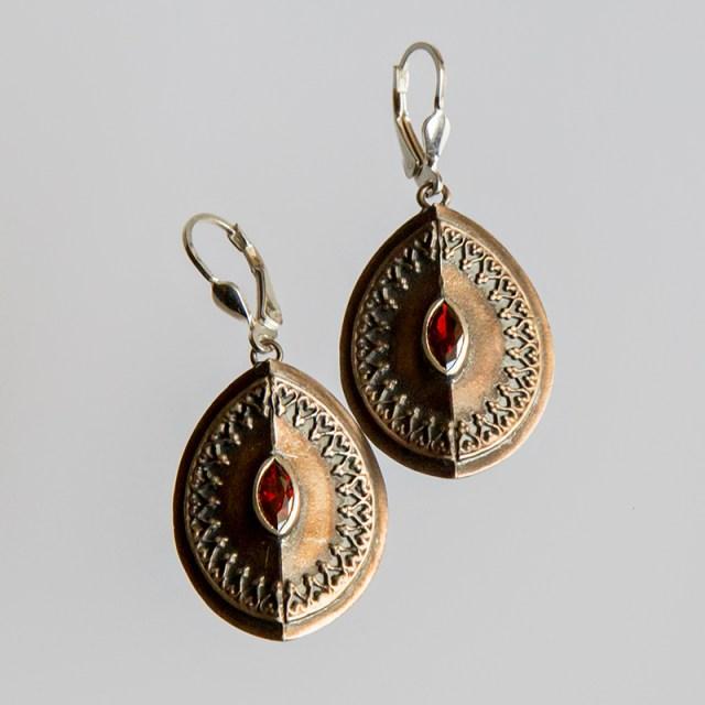 Srebrne kolczyki Royal z Oczkiem - cyrkonia