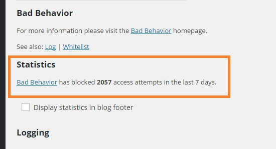 bad behavior statistics