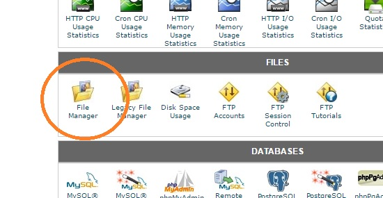 open file manager cpanel
