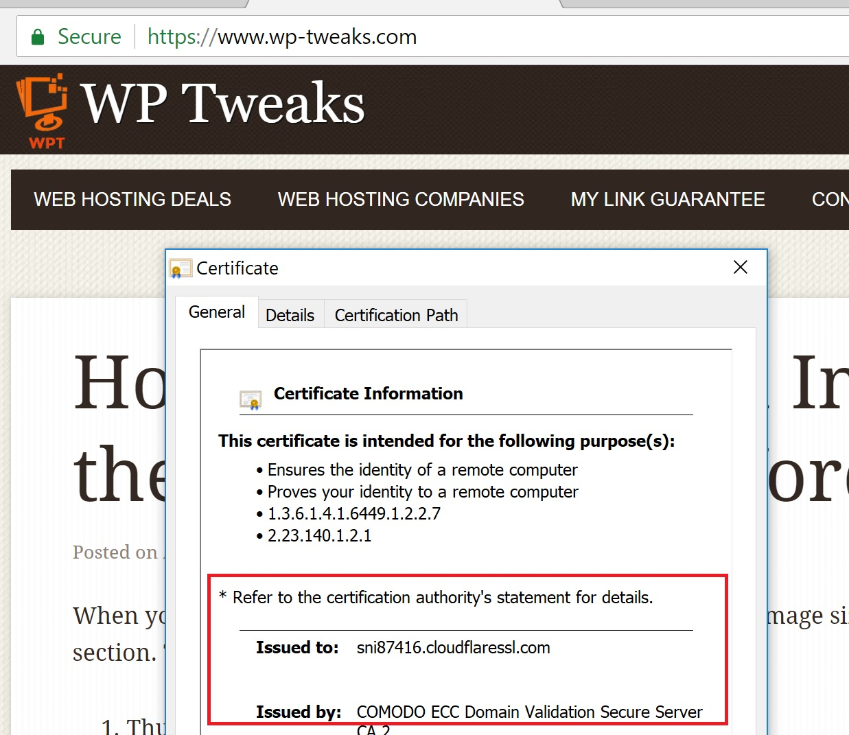 Can You Use An Ssl Certificate With Cloudflare Wp Tweaks