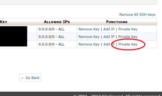Get the Private SSH Key