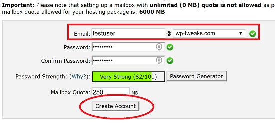 Create a SiteGround Webmail Account