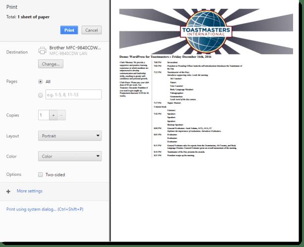customizable-agenda-result