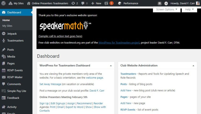 admin dashboard ad
