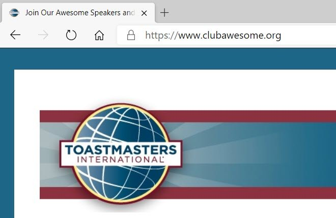 Toastmasters club website domain
