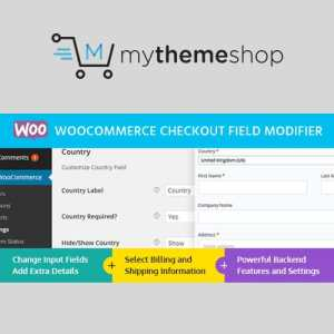 MyThemeShop WooCommerce Checkout Field Modifier