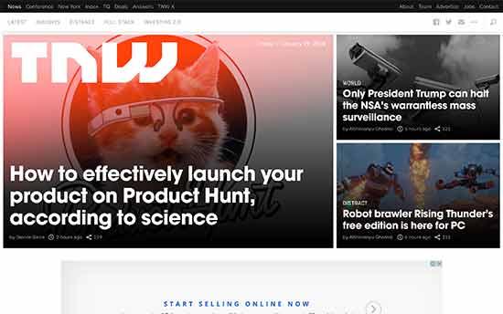 web design features