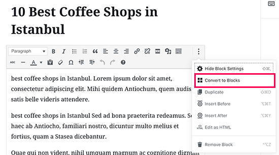 Editing older articles in new WordPress editor