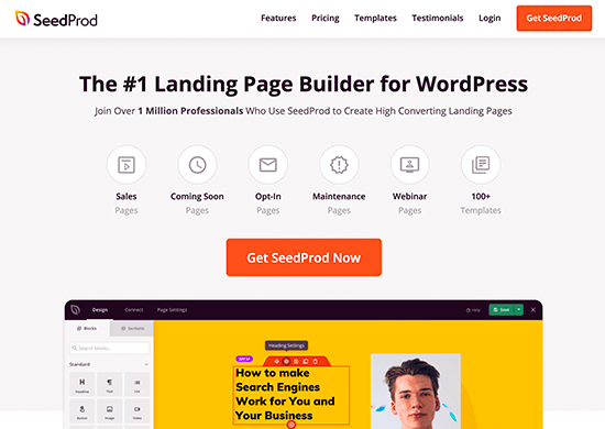 SeedProd WordPress Builder