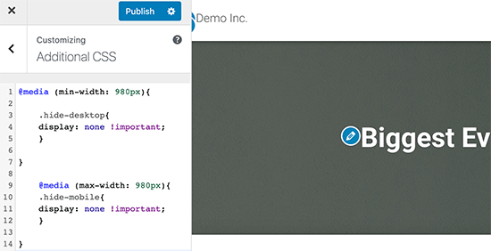 Add your custom CSS