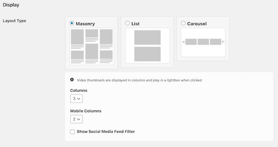 Customize social wall layout template