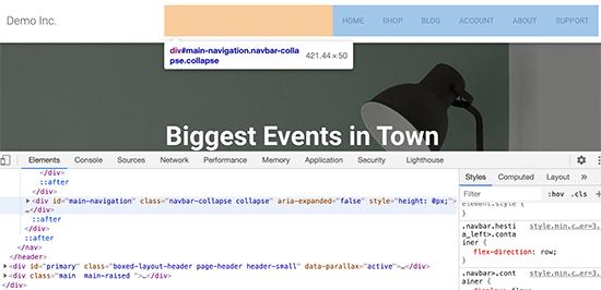 Source code while viewing your desktop menu