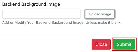 Upload backend background image