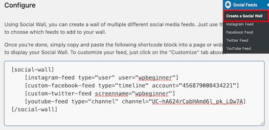 Copy social wall shortcode