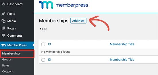 Add new membership plan