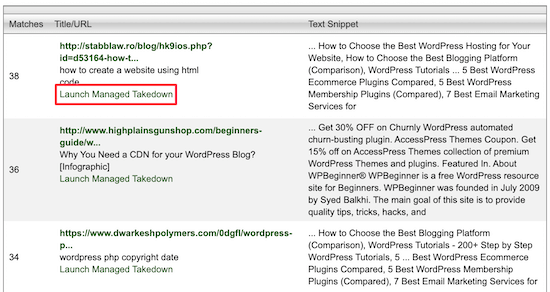 DMCA tool request takedown