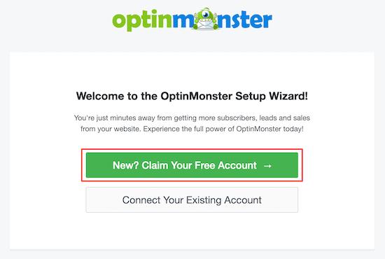OptinMonster launch setup wizard