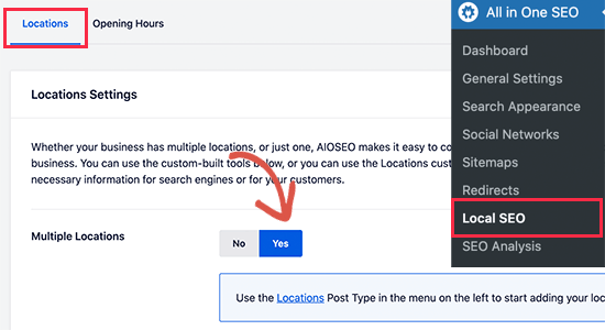 Enable locations