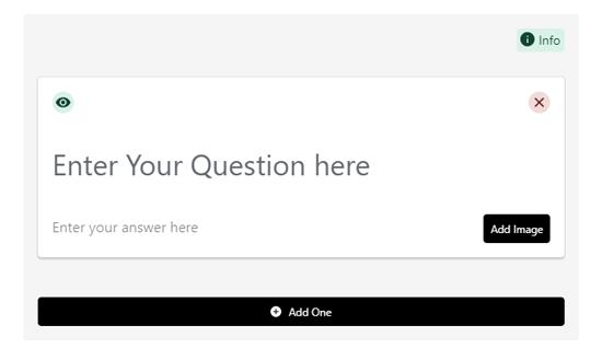 FAQ schema question and answer form