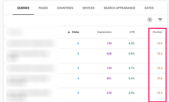 Low performing search results