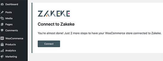 Connect Zakeke account