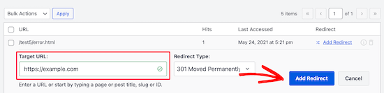 Add home page redirect