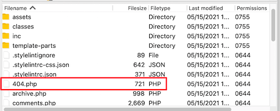 FTP 404 php file