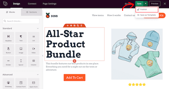 Publish WooCommerce product page live